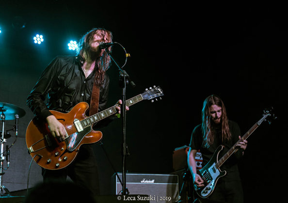 Picture of the hard rock band Graveyard in concert taken by the Brazil music photographer Leca Suzuki