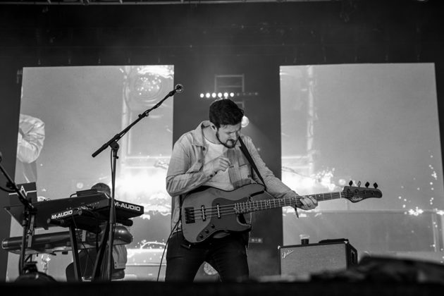 Picture of the rock group Kodaline in concert taken by the gig photographer Danni Fro
