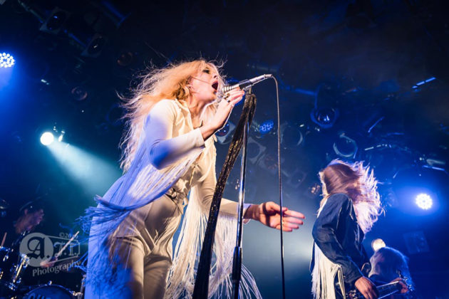 Picture of the heavy metal group Lucifer in concert taken by the music photographer Aki Fujita Taguchi