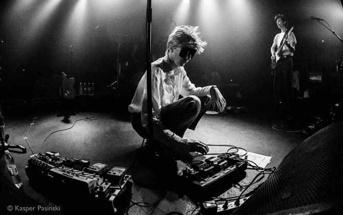 Picture of the rock band Deerhunter in concert taken by the live concert music photographer Kasper Pasinski
