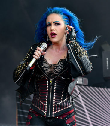 Picture of the heavy metal band Arch Enemy in concert at the Sweden rock festival taken by Lennart Håård