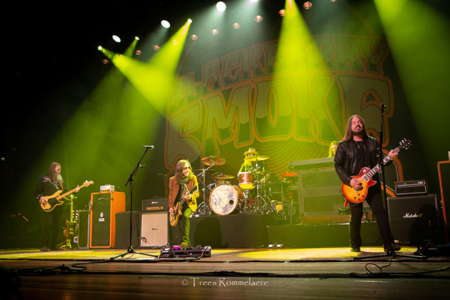 Picture of the Southern rock group BlackBerry Smoke in concert taken by the music photographer Trees Rommelaere