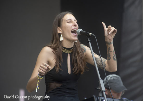 Picture of Stephany Stefan in concert taken by music photographer David Gasson