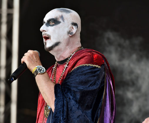 Picture of the heavy metal band Demon in concert with photography by Lennart Håård