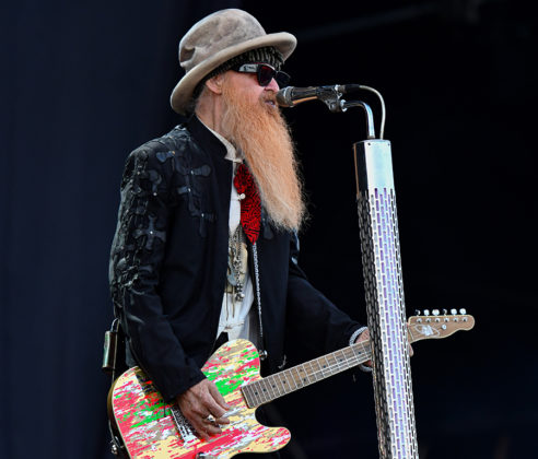 Picture of the rock band ZZ Top in concert by the music photographer Lennart Håård
