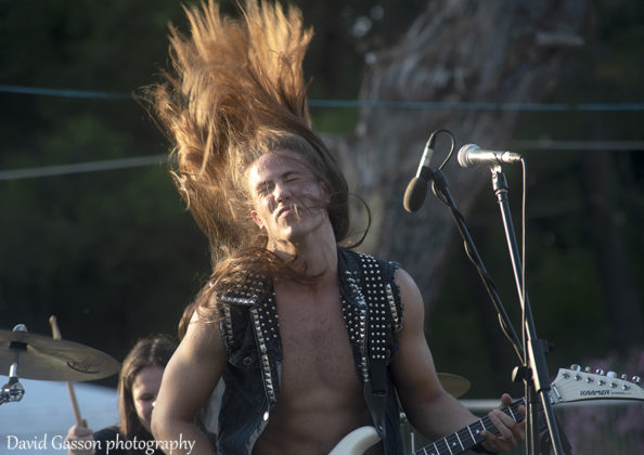 Picture of the heavy metal band Lionmane atGoatHell Metal Fest by David Gasson