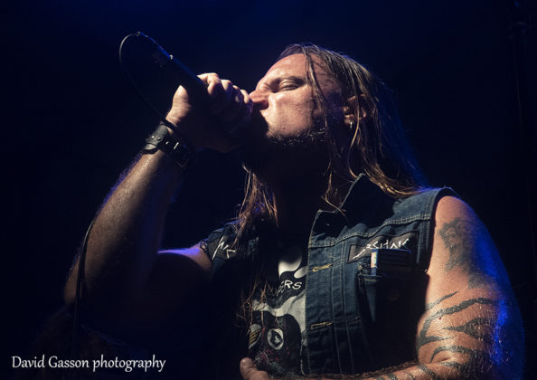 Picture of the heavy metal band Archaic in concert by David Gasson
