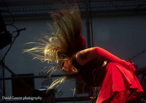 Picture of the heavy metal band Feelament in concert by David Gasson