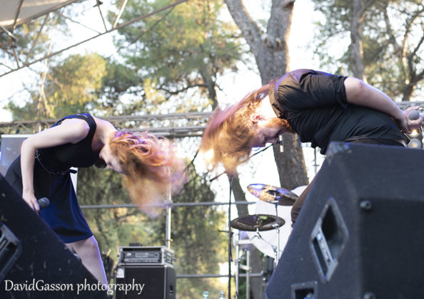 Picture of the heavy metal band April Weeps in concert by David Gasson