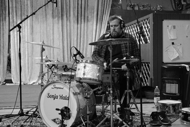 Picture of Keminova Cowboys in studio by music photographer Jason Champney