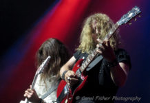 Picture of the rock band Tesla in concert taken by Carol Fisher