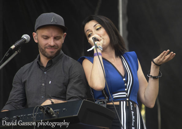 Picture of the Croatian pop band Bang bang in concert taken by David Gasson