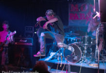 Picture of the hardcore punk band Sick Crap in concert taken by music photographer David Gasson
