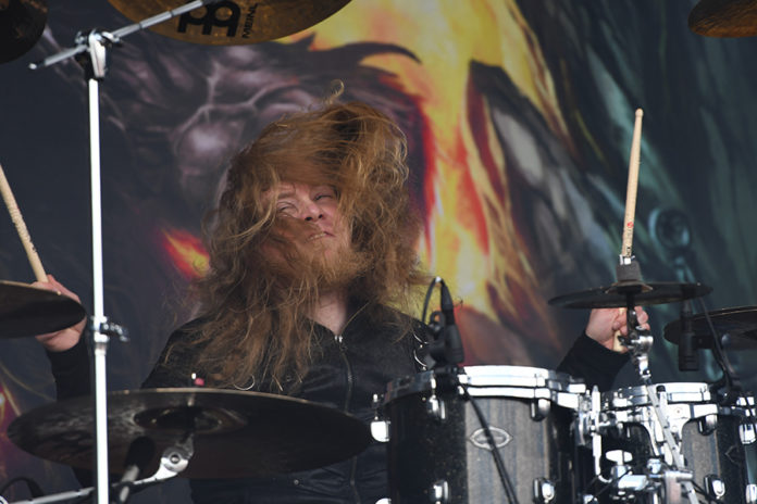 Picture of the heavy metal band Beast in Black in concert at the Sweden Rock festival by Lennart Håård