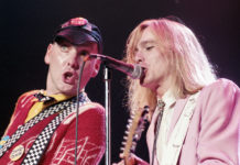 Picture of the rock band Cheap Trick in concert taken in 1980 by Bill O'Leary