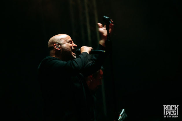 Picture of the heavy metal band Disturbed performing at the Hills Of Rock festival by Stan Srebar