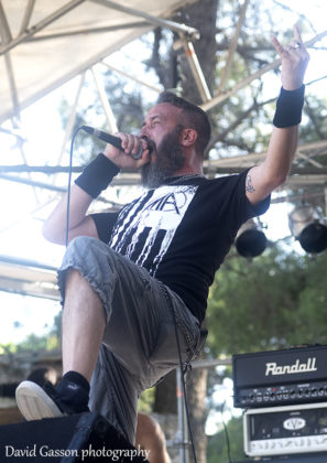Picture of the Italian thrash metal band Crisalide in concert at the GoatHell Metal Fest in Croatia with photography by David Gasson