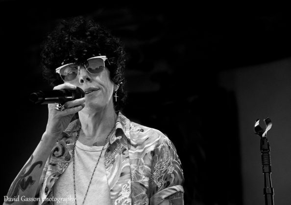 Picture of the indie pop singer Laura Pergolizzi in concert during the INmusic festival taken by David Gasson