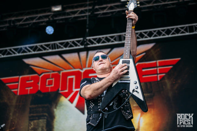 Picture of the heavy metal band Bonfire in concert at the Hills Of Rock festival by Stan Srebar