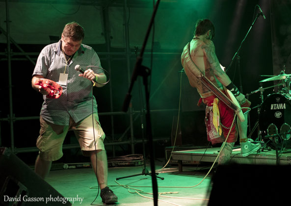 Picture of the hardcore punk band Tito's bojs in concert at the pula punk festival by David Gasson