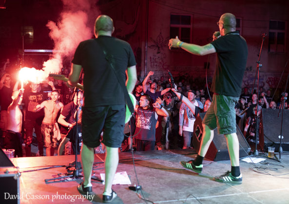 Picture of the punk rock band Stage Bottles in concert at the Pula punk festival by David Gasson