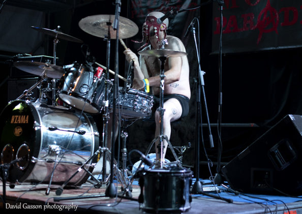 Picture of the musician Octopoulpe performing at the Pula punk festival taken by David Gasson