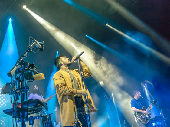 Picture of Young the Giant in concert taken by Jennifer Mullins