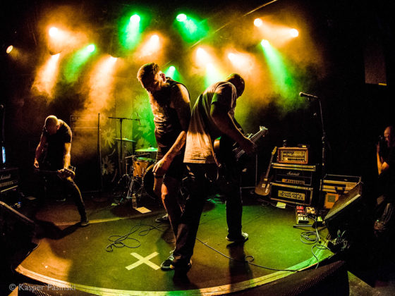 Picture of the heavy metal band Nyt Liv in concert taken by Kasper Pasinski