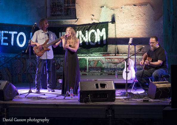 Picture of the folk and rock band Nola in concert taken by David Gasson