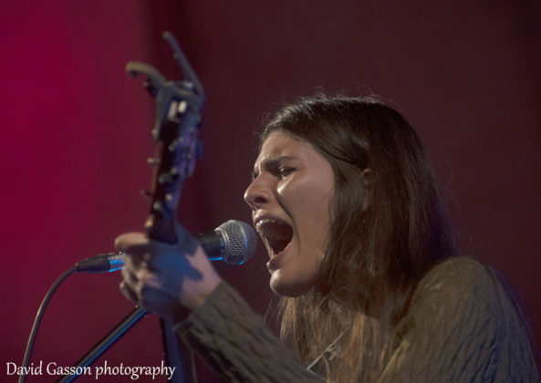 Picture of the singer Dunja Ercegovic performing as Lovely Quinces taken by David Gasson
