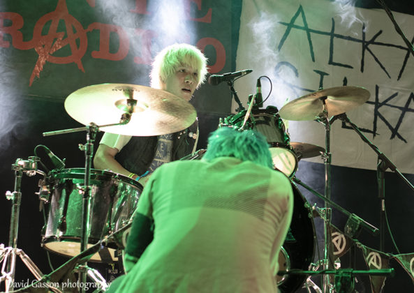 Picture of the hardcore punk band Alkasilka from Japan in concert at the punk festival in Pula taken by David Gasson