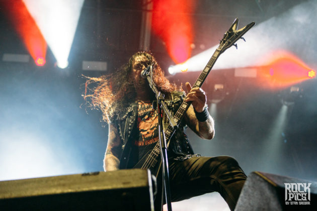 Picture of the thrash metal group Destruction in concert taken at a festival in Bulgaria by Stan Srebar