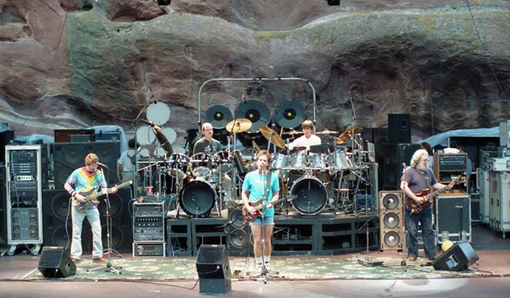 Picture of the rock group Grateful Dead in concert taken by Bill O'Leary