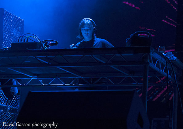 Picture of the DJ Nina Kravitz in concert at the Croatian music festival by David Gasson