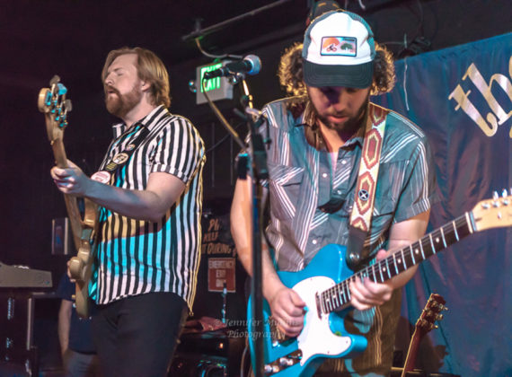 Picture of the western indie rock band Jared and The Mill in concert taken by Jennifer Mullins