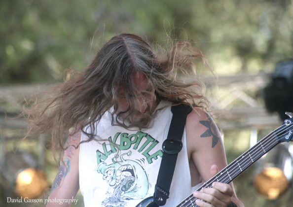 Picture of the thrash metal band Bäd Hammer in concert taken by David Gasson