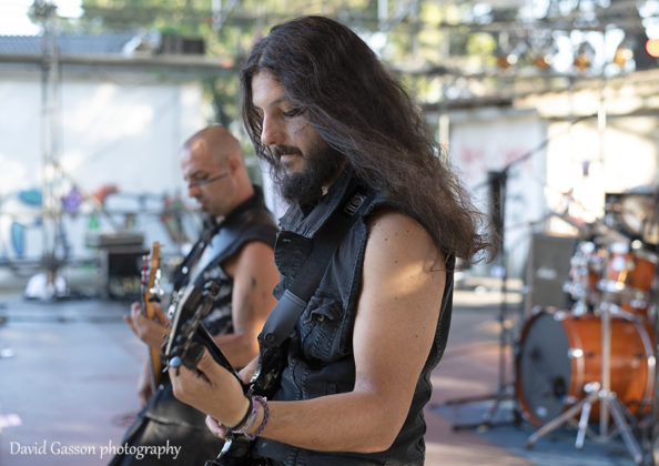 Picture of the heavy metal band M.O.R.T.H in concert taken by David Gasson