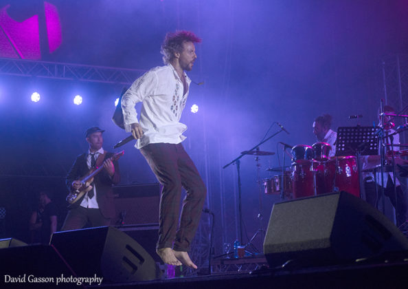 Picture of the dub and reggae band Gentleman's Dub Club in concert taken by David Gasson