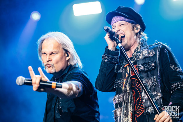 Picture of the heavy metal band Avantasia in concert taken by Stan Srebar