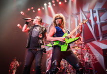 Picture of the heavy metal band Loudness in concert taken by Aki Fujita Taguchi