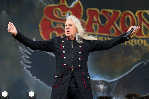 Picture of the heavy metal band Saxon in concert taken by Lennart Håård