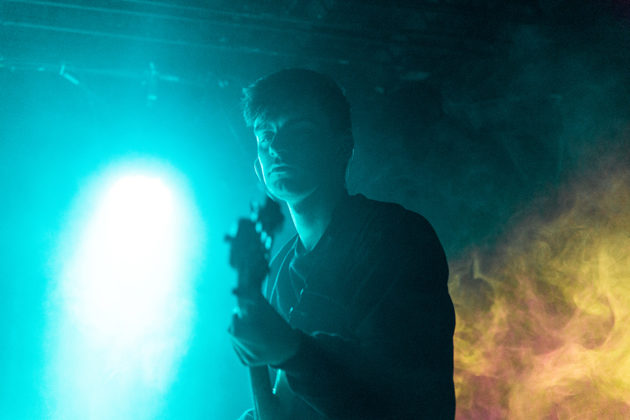 Picture of the Irish pop singer Josh Gray in concert taken by Danni Fro