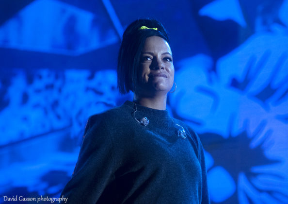 Picture of the singer Lily Allen in concert taken by David Gasson