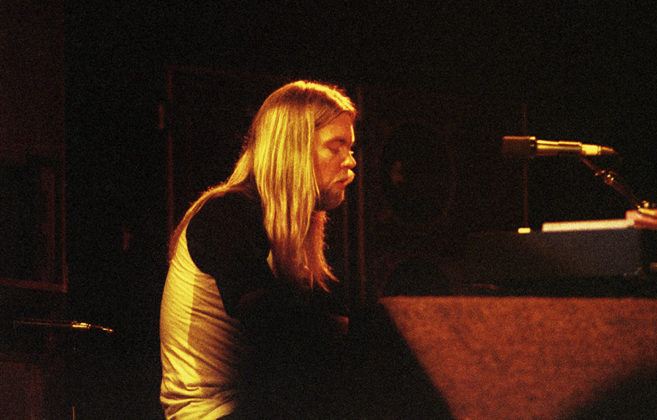 Picture of The Allman Brothers Band in concert taken in analog in 1980 and 81 by Bill O'Leary