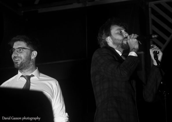Picture of the dub band Gentleman's Dub Club in concert taken by David Gasson