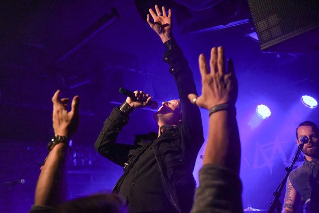 Picture of the rock band Marys Creek in concert taken by Lennart Håård