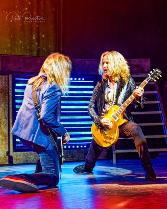 Picture of the rock band Styx in concert taken by Ruth Preston