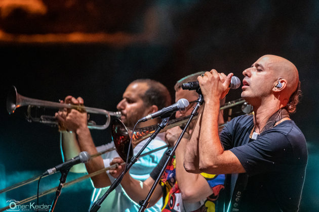 Picture of the band Hadag Nahash in concert taken by Omer Keidar