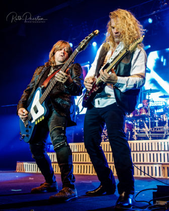 Picture of the rock band Tesla in concert taken by Ruth Preston