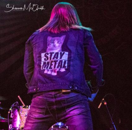 Picture of the heavy metal band Last in Line in concert taken by Shannon McElrath